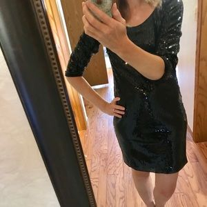 NWT White House Black Market shift sequins dress